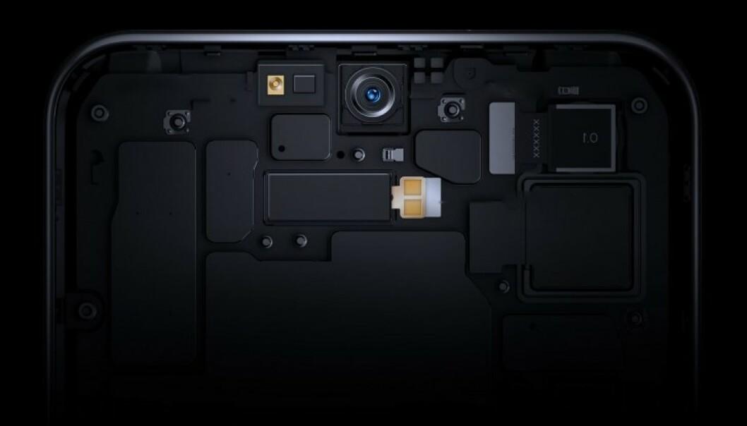 ZTE har lykkes med å plassere et kamera bak skjermen. Foto: ZTE