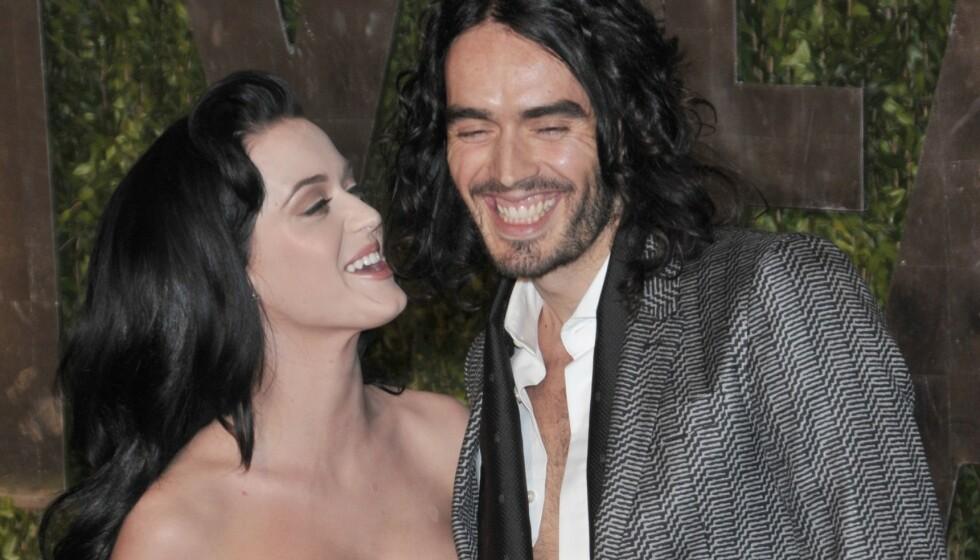 <strong>DEN GANG DA:</strong> Mange har kanskje glemt at artisten Katy Perry var gift med Russell Brand fra 2010 til 2011. Nå letter hun på sløret om skilsmissen. Her er de fotografert i 2010. Foto: NTB Scanpix