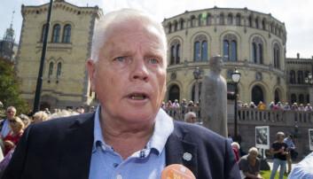 """<strong>VIL IKKE:</strong> I fjor """"streiket"""" pensjonistene foran Stortinget. Nå raser Jan Davidsen og Pensjonistforbundet på nytt etter et magert oppgjør. Foto: Terje Pedersen / NTB scanpix"""