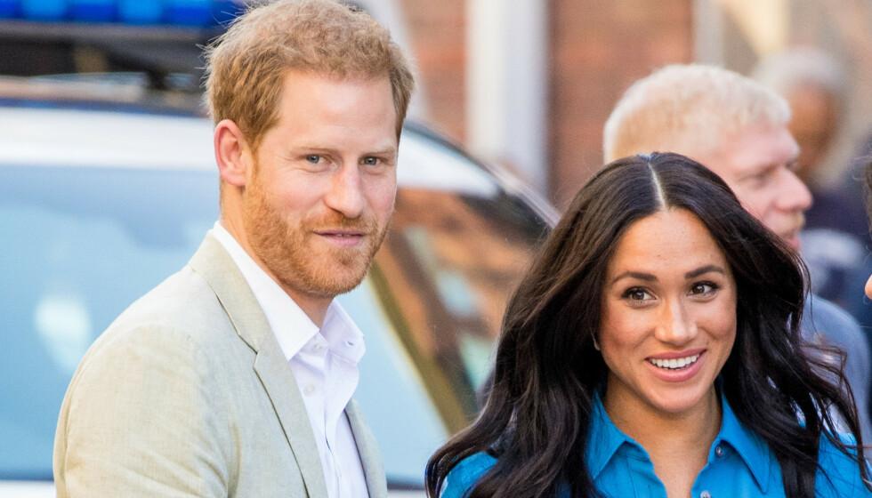 <strong>SIGNERT AVTALE:</strong> Prins Harry og hertuginne Meghan bekrefter at de har signert en flerårig avtale med Netflix. Foto: NTB Scanpix