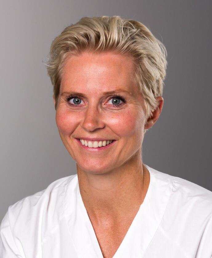 <strong>FAGEKSPERT:</strong> Overlege Jannicke Andresen ved Nyfødtintensiv på Rikshospitalet, Oslo Universitetssykehus. FOTO: OUS.