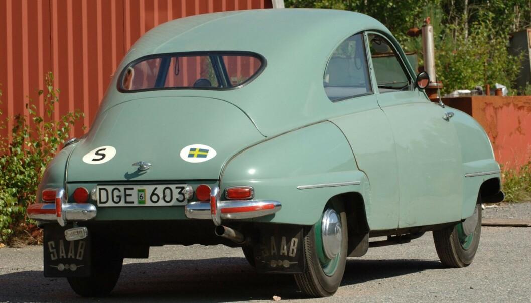 <strong>NYTT KAROSSERI:</strong> De første 92-modellene hadde et karosseri uten bagasjeromluke. Karosseriet på denne bilen ble byttet mens den gikk som testbil. Foto: Bilwebauctions