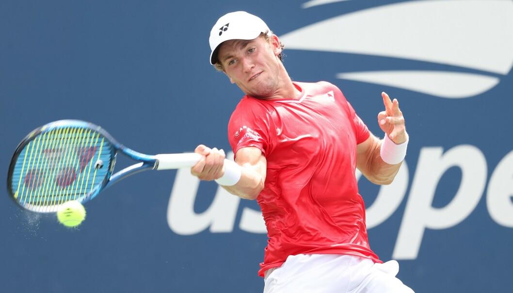 <strong>VIDERE:</strong> Casper Ruud er videre i US Open. Foto: Al Bello/ Getty Images / AFP / NTB Scanpix