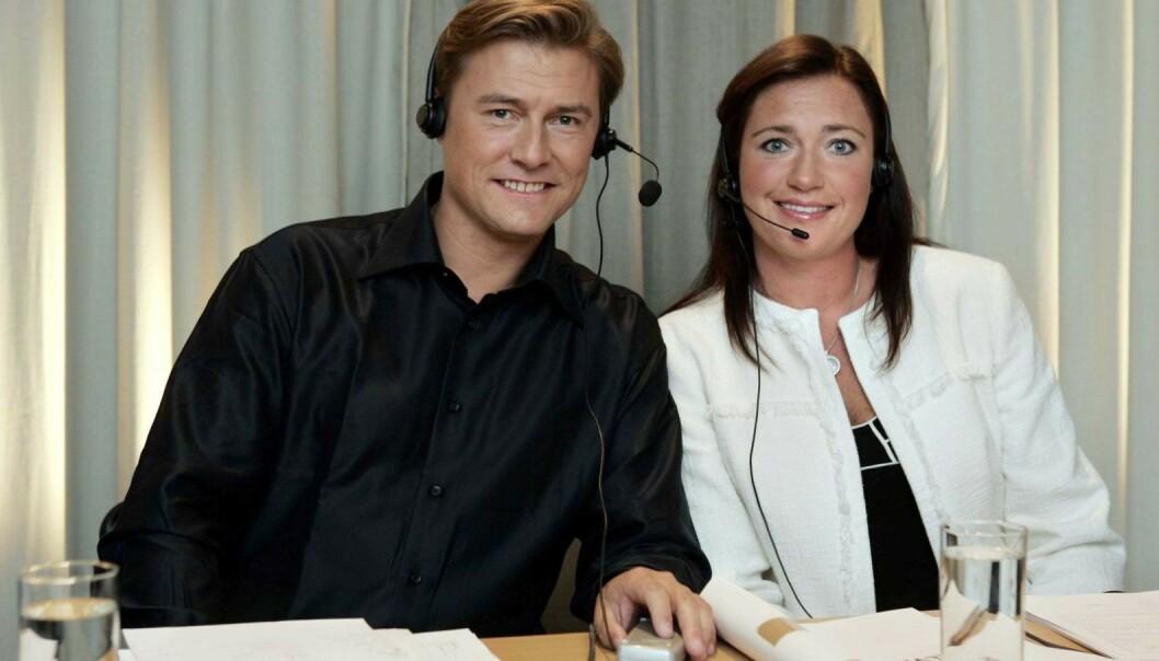 <strong>BEGGE SIKTET:</strong> Idar Vollvik med kona Anita under TV2s artistgalla for Plan Norge i 2005. Nå er begge siktet i forbindelse med den mye omtalte munnbind-saken. Foto: Erlend Aas / NTB Scanpix