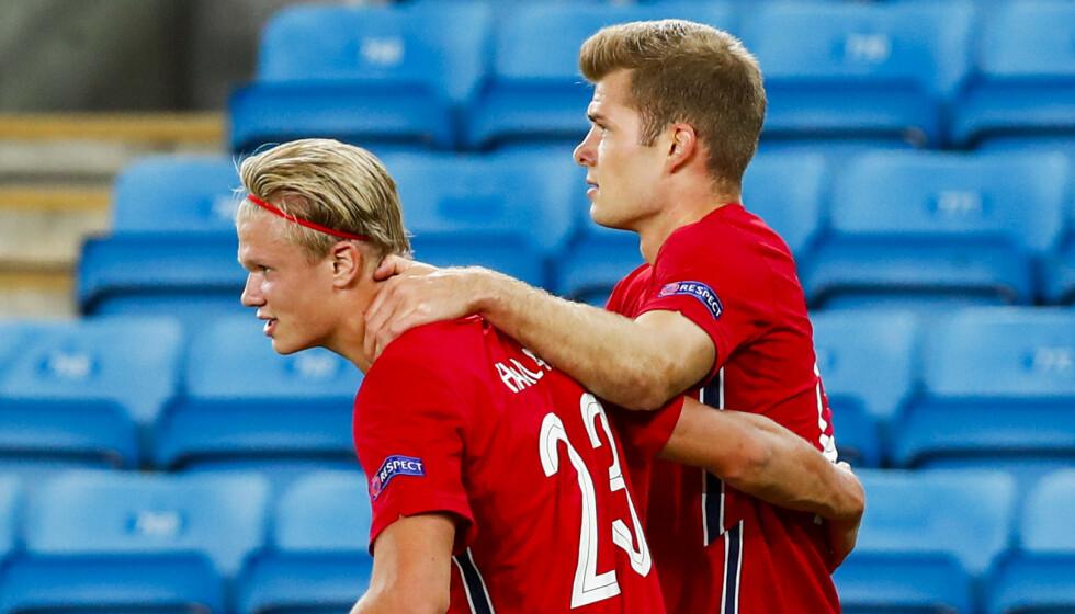 <strong>I STORFORM:</strong> Flere av de norske landslagsgutta kan bytte klubb i sommer. Foto: Terje Pedersen / NTB scanpix