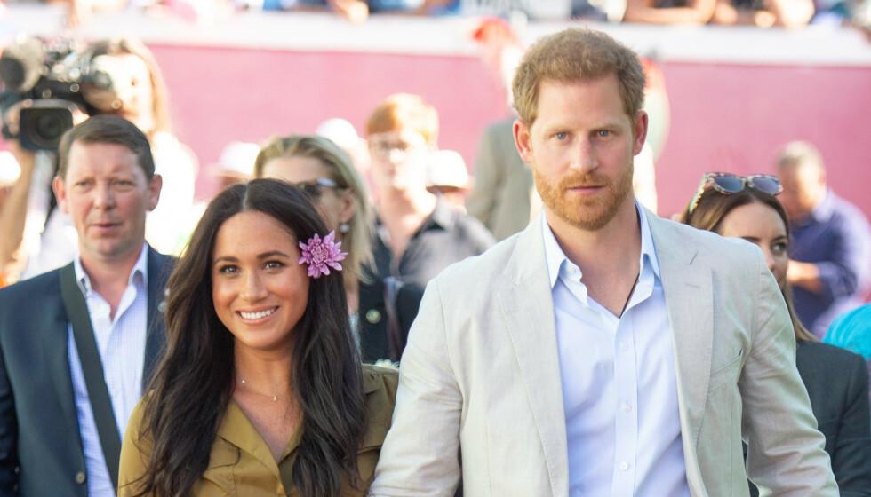 <strong>MÅ DISKUTERES:</strong> Man skulle kanskje tro at hertuginne Meghan og prins Harry kunne ta på seg alle oppdrag de ønsker nå som de har trukket seg tilbake fra sine kongelige plikter. Slik er det altså ikke. Foto: NTB scanpix