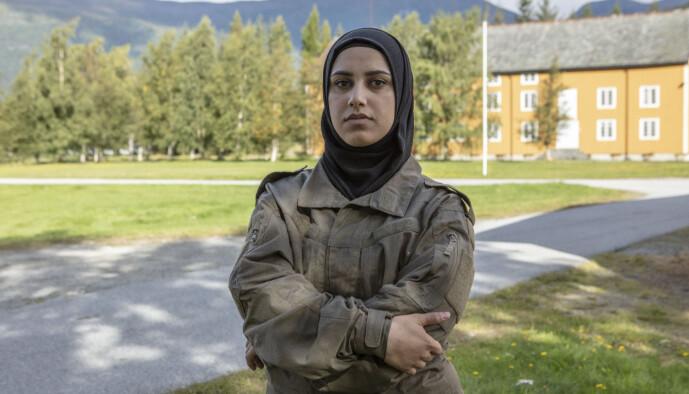 <strong>ØNSKER RUTINER:</strong> Faten Mahdi Al-Hussaini vil teste egne grenser gjennom deltakelsen. Foto: Matti Bernitz/TV 2
