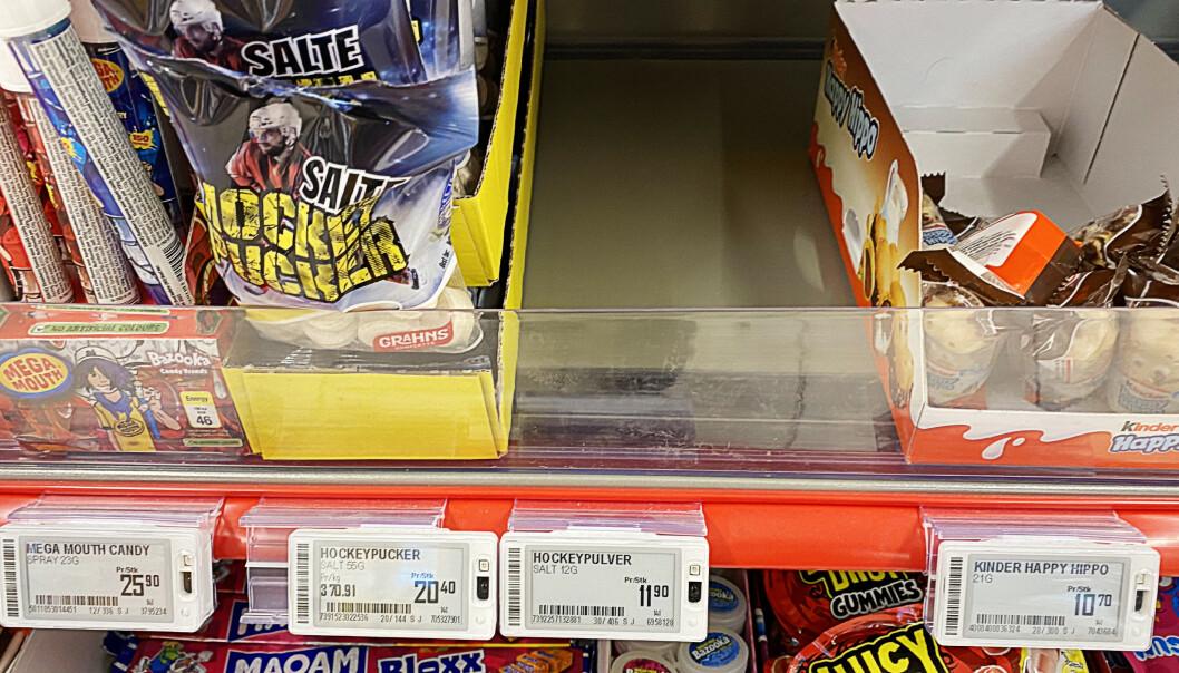 <strong>TOMT:</strong> Også salget av hockeypulver har eksplodert. Foto: Marie Røssland / Dagbladet