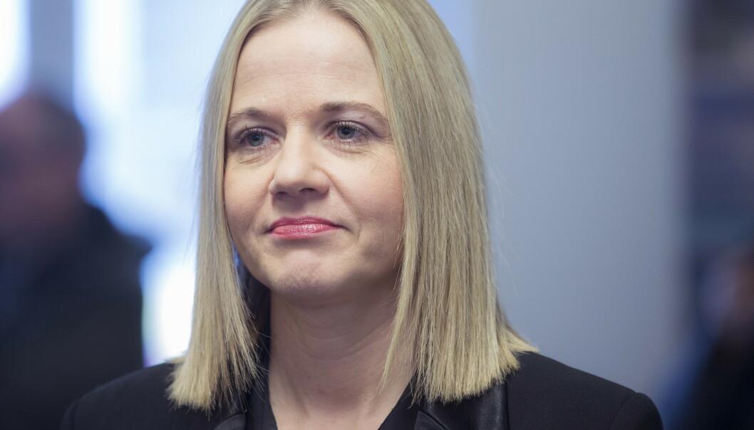 <strong>ETTERFØLGER:</strong> Karin Hindsbo blir Audun Eckhoffs etterfølger som direktør ved Nasjonalmuseet. Foto: Berit Roald / NTB scanpix