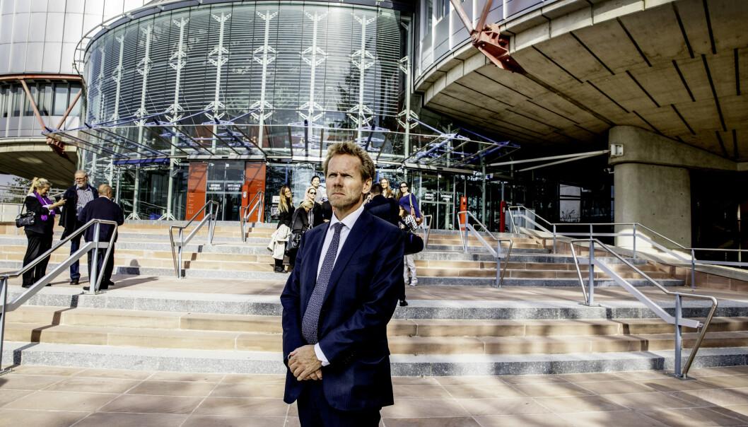 <strong>GAME OVER:</strong> Staten, her ved regjeringsadvokat Fredrik Sejersted, anket de to siste barnevernsdommene mot Norge i Strasbourg. Nå er Norges anker avvist i et panel med fem dommere. Foto: Siv Johanne Seglem / Dagbladet