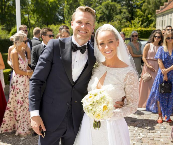 <strong>ÅPENHJERTIGE:</strong> Harald og Katarina, som giftet seg for to år siden, forteller åpenhjertig om fødselen i onsdagens episode av sin felles podkast. Foto: Espen Solli / Se og Hør