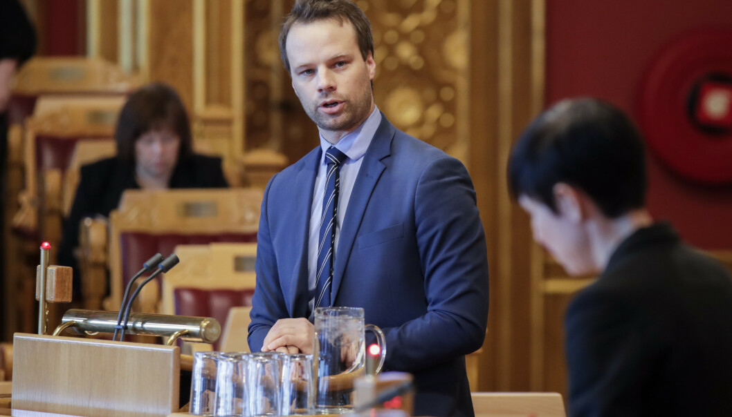 Frps Jon Helgheim fotografert i muntlig spørretime på Stortinget. Foto: Vidar Ruud/NTB Scanpix