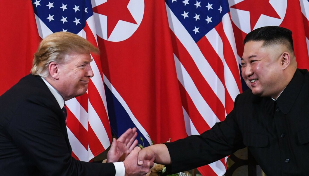 <strong>GOD TONE:</strong> USAs president, Donald Trump, og Nord-Koreas diktator, Kim Jong-un, har blitt brevvenner. Foto: Saul LOEB / AFP