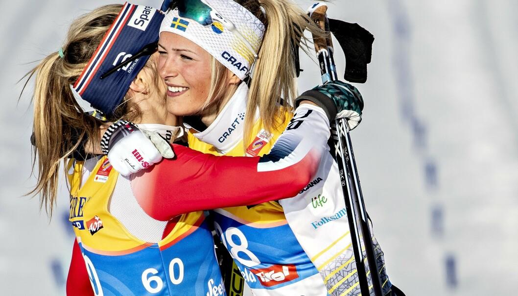 <strong>SNAKKER UT OM MARERITTET:</strong> Frida Karlsson svevde på en sky da hun utfordret Therese Johaug i VM i Seefeld. Så kom motgangen. Foto: Bjørn Langsem / Dagbladet
