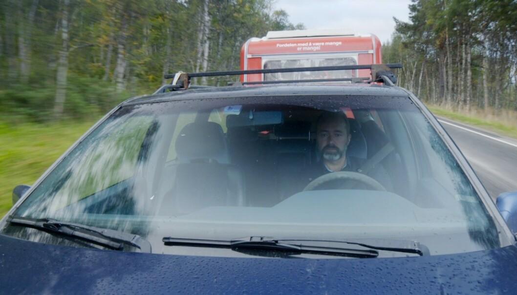<strong>FØLGES AV REGISSØR:</strong> Trond Giske følges av filmskaper Håvard Bustnes i Upnorth Film i en kommende dokumentar. Foto: Upnorth Film / NFI