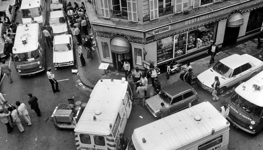<strong>6 DREPT, 22 SKADD:</strong> Restauranten Goldenberg ble angrepet 9. august 1982. I dag ble en nordmannen pågrepet av PST i forbindelse med saken. Foto: AFP / NTB scanpix