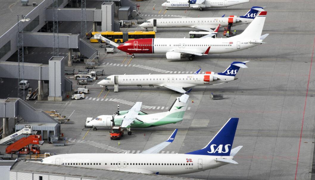 <strong>KRISEHJELP:</strong> En samlet flybransje ba om kontantstøtte da de møtte regjeringen fredag. Illustrasjonsfoto: Gorm Kallestad / NTB scanpix