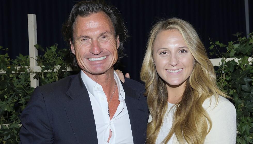 <strong>BRYLLUP:</strong> Petter Stordalen avslører bryllupsplanene til datteren Emilie Stordalen i et radiointervju. Her er de to avbildet sammen i 2018. Foto: NTB Scanpix