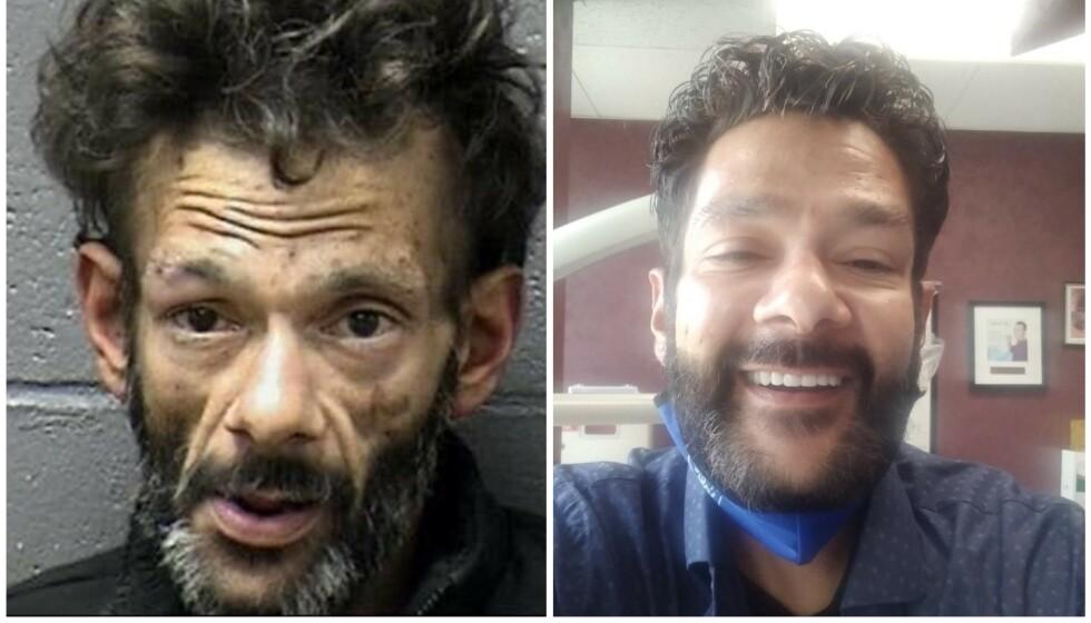 <strong>FORVANDLING:</strong> Barnestjerna Shaun Weiss ble arrestert tidligere i år. Bildet til venstre ble tatt i forbindelse med arrestasjonen. Nå overrasker han med «nytt» utseende. Foto: Yuba County Jail / Facebook