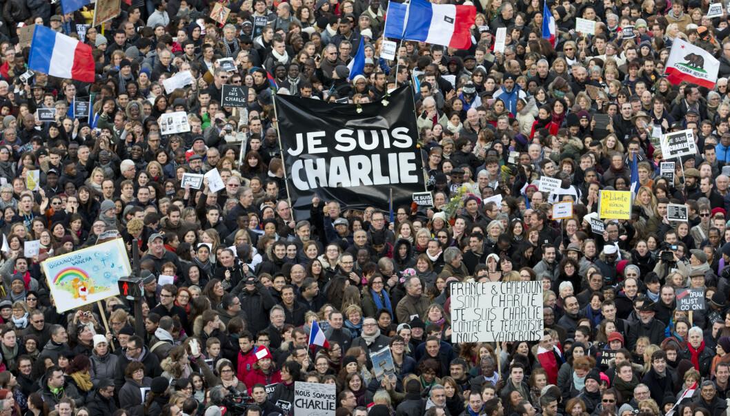 <strong>TOLV DREPT:</strong> Tolv personer ble drept i terrorangrepet 7. januar 2015. Foto: Peter Dejong / AP / NTB scanpix