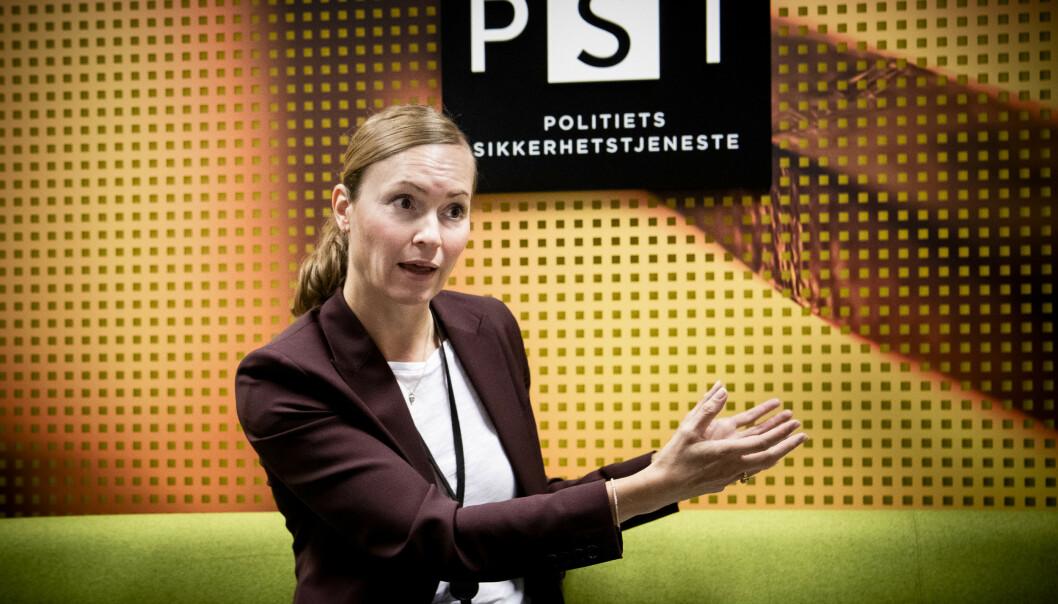 <strong>- NAIVITET:</strong> - Mange er naive, og tror ikke at fremmede lands etterretningstjenester kan være interessert i hva de har kunskap om, sier Hanne Blomberg, kontraetterretningssjef i PST. Foto: Lars Eivind Bones / Dagbladet