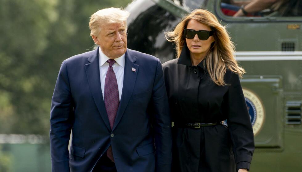 <strong>GIFT:</strong> Melania og Donald Trump har vært gift siden 2005. Hun er presidentens tredje kone. Foto: NTB scanpix