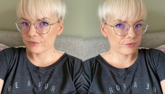 <strong>RETT VEI:</strong> Eller var det feil? Til venstre er slik det ser ut til vanlig når man tar en selfie. Til høyre har vi skrudd på speil visningen. Foto: Kirsti Østvang