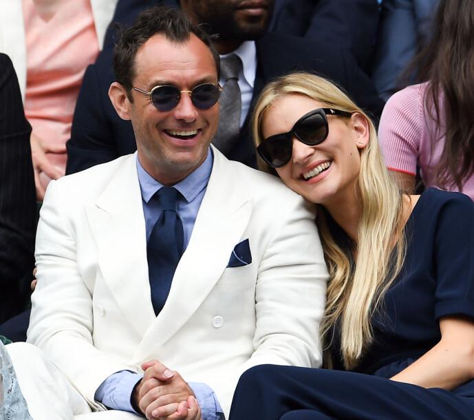 <strong>NYBAKTE FORELDRE:</strong> Jude Law og Phillipa Coan har fått sitt første barn sammen. Foto: NTB Scanpix