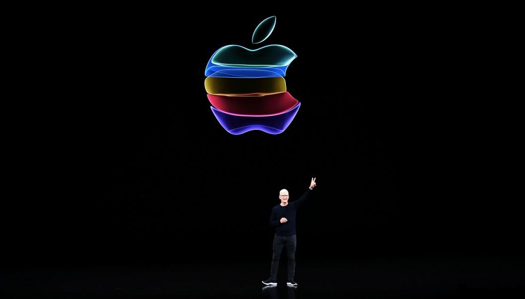 <strong>APPLE ONE:</strong> Verdens største musikkstrømmetjeneste Spotify langer ut mot Apple, som er verdens mest verdifulle selskap. Photo by Josh Edelson / AFP)