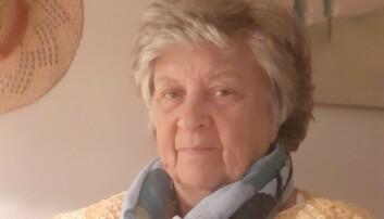 <strong>FORBAUSET:</strong> Turid Seljestad (75) ble forbauset over boten hun fikk på p-plassen som var gratis. Foto: Privat