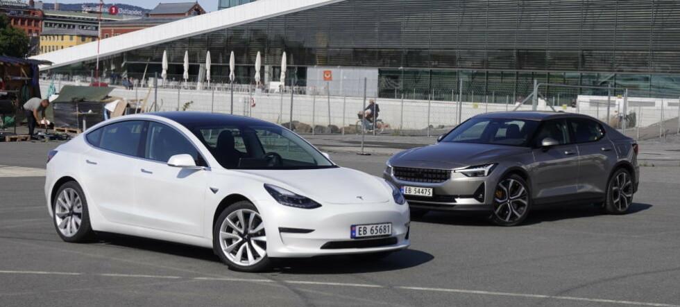 Polestar eller Tesla?Denne er best i test