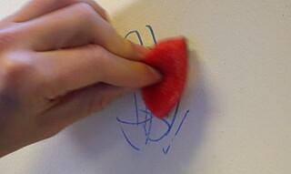 Image: Hvordan fjerne penn fra veggen