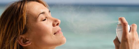 Image: Ansiktsspray med solkrem - funker det?