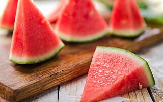 Image: Husker du å skylle melonen før du deler den opp?