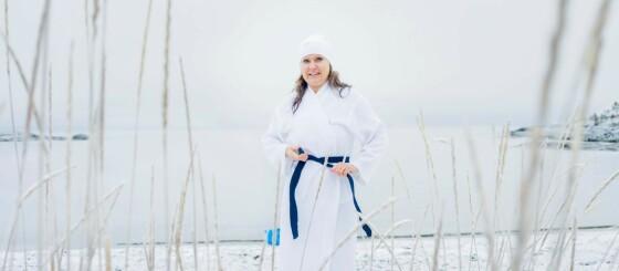 Image: Da Liina begynte å bade i minusgrader, forsvant plagene