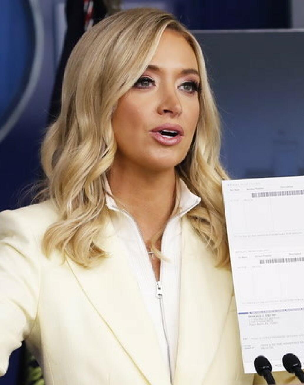Trumps talskvinne med brøler på pressemøtet
