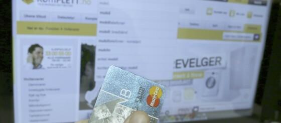 Image: - Ikke betal med vanlig bankkort på nett