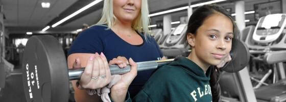 Image: Linnéa (12) har personlig trener