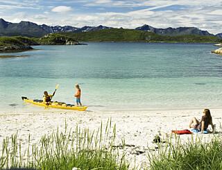 Image: Like finkornet som en eksotisk strand i Karibia