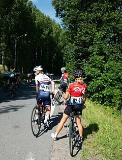 Image: Legger seg flate etter sykkelbråket