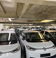 Image: Her står 700 VW ID.3 på kaia i Oslo