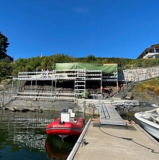 Image: Spetalen i byggebråk: - Ulovlig