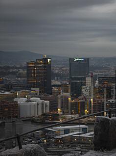 Image: Oslo ned fra tronen
