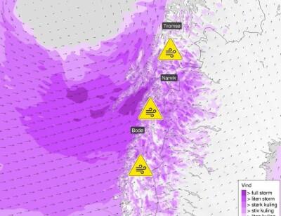 Image: Uværet kommer - venter full storm