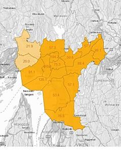 Image: Alle bydeler i Oslo er røde