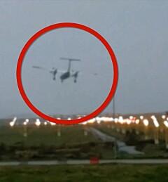 Image: Se flyet lande i stormen
