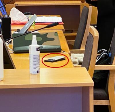 Image: Drama i retten: Bilde på avveie