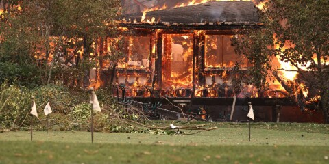 Image: Berømt restaurant i flammer: - Knust