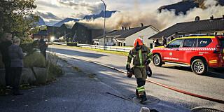 Image: Brann i flere hus på Åndalsnes