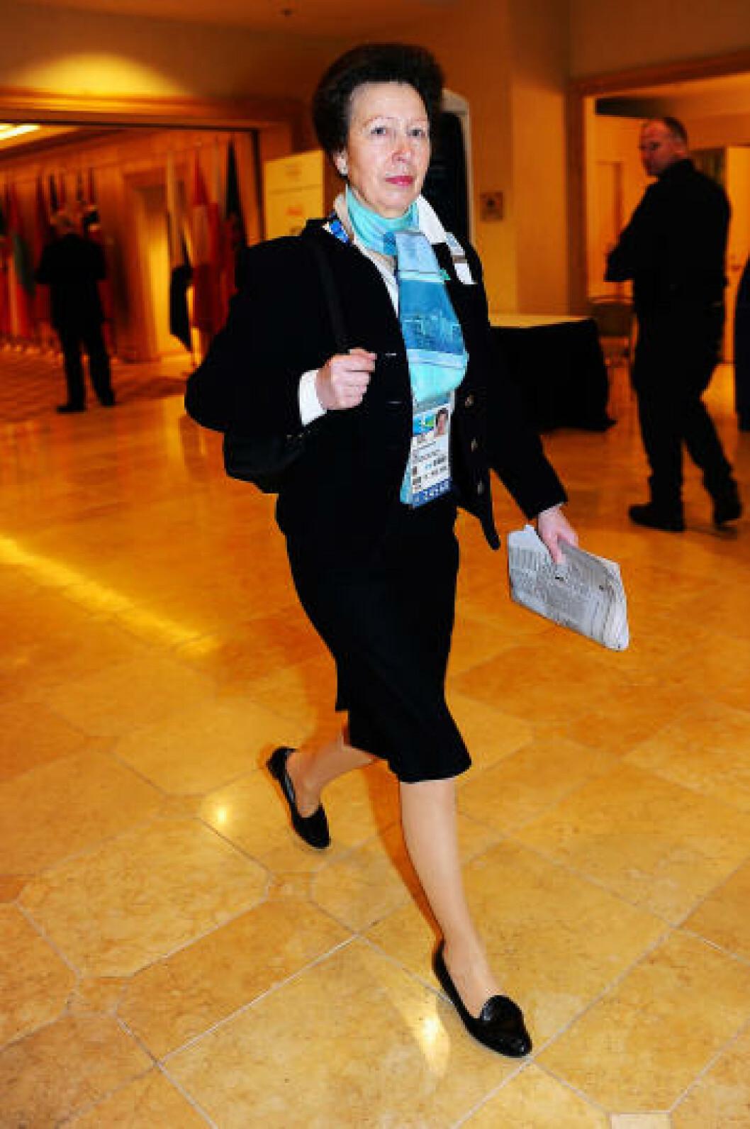 SPORTSINTERESSERT PRINSESSE: Storbritannias prinsesse Anne (59) ankommer Vancouver. Foto: Scanpix